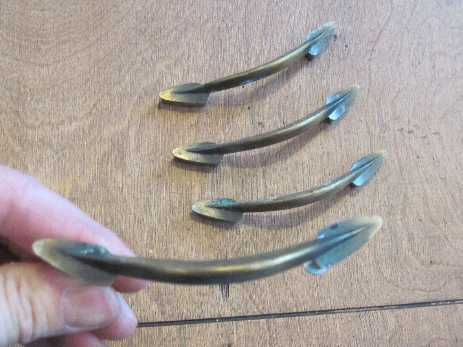 Lot Of 4 Vintage Antique Pull Handles ,dresser Drawer Funiture Hardware
