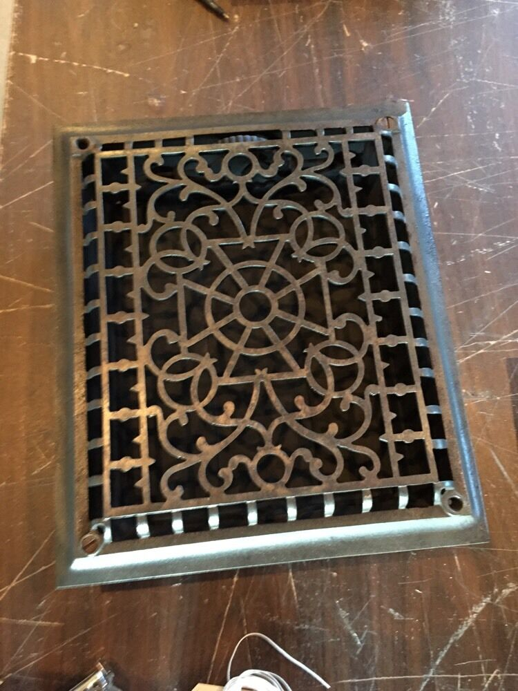 Tc 34 Antique With The Pinwheel Design In Center Wall Or Floor Heating Great
