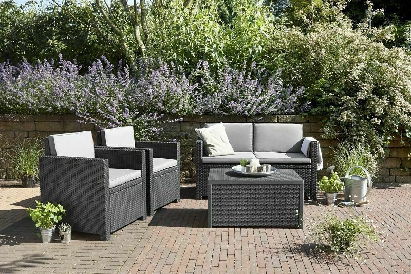 monaco loungeset allibert gartenm bel gartenset sitzgruppe sitzgarnitur rattan eur 322 05. Black Bedroom Furniture Sets. Home Design Ideas