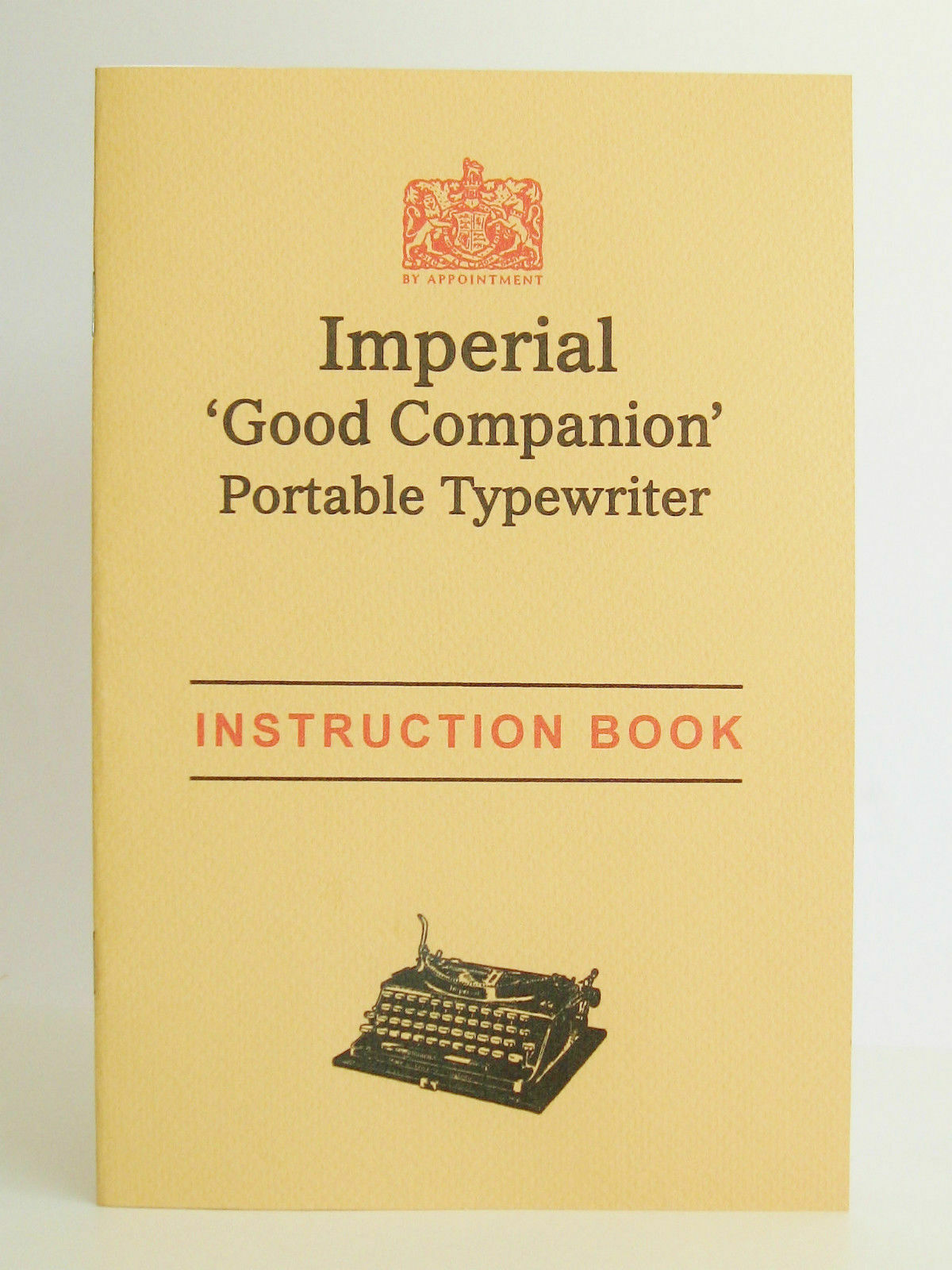 Typewriter Instruction Manual Imperial Good Companion - Reprint w/ Finger Chart