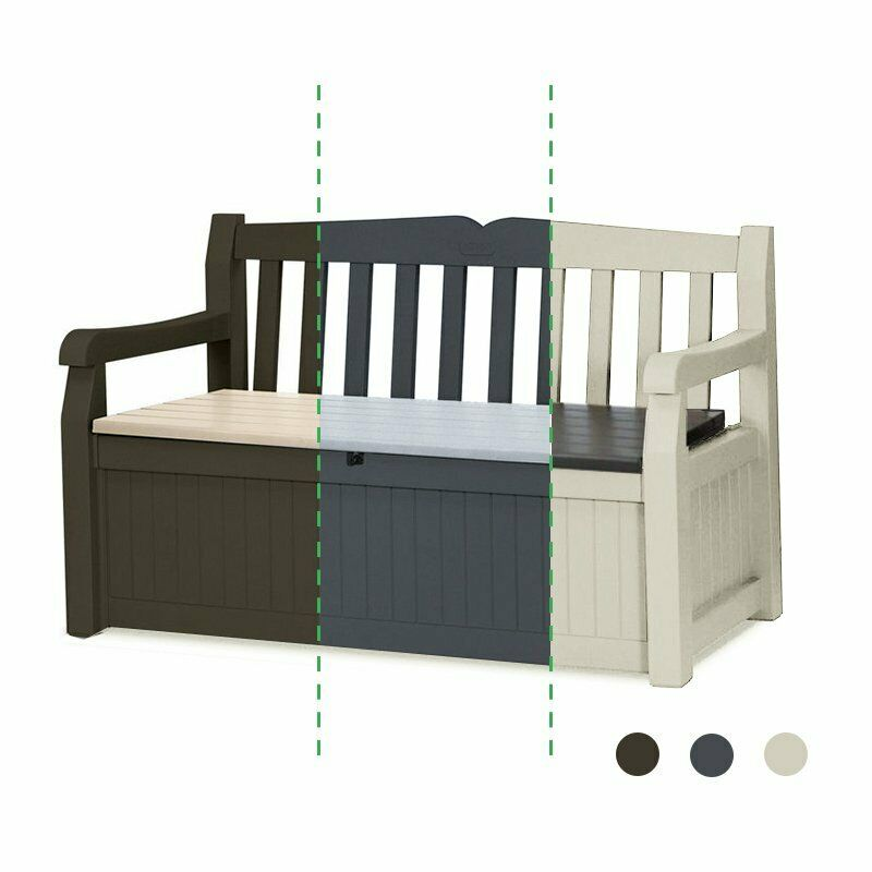 keter gartenbank mit kissentruhe garten auflagenbox sitzbank eden gartenm bel eur 124 90. Black Bedroom Furniture Sets. Home Design Ideas