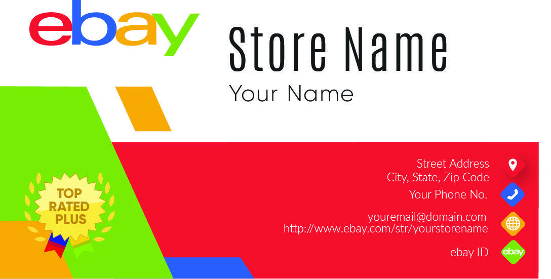 500 EBAY SELLER Personalized Business Cards-FREE SHIPPING-Glossy or ...