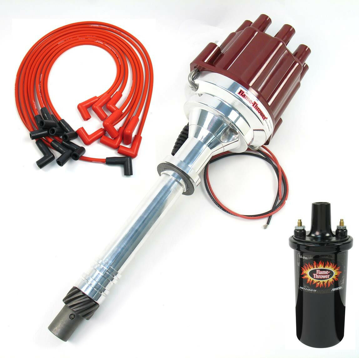 Pertronix D200801 Marine Distributor Coil Spark Wires Chevy Volvo Wiring Mercruiser 350 454 1 Of 4only Available