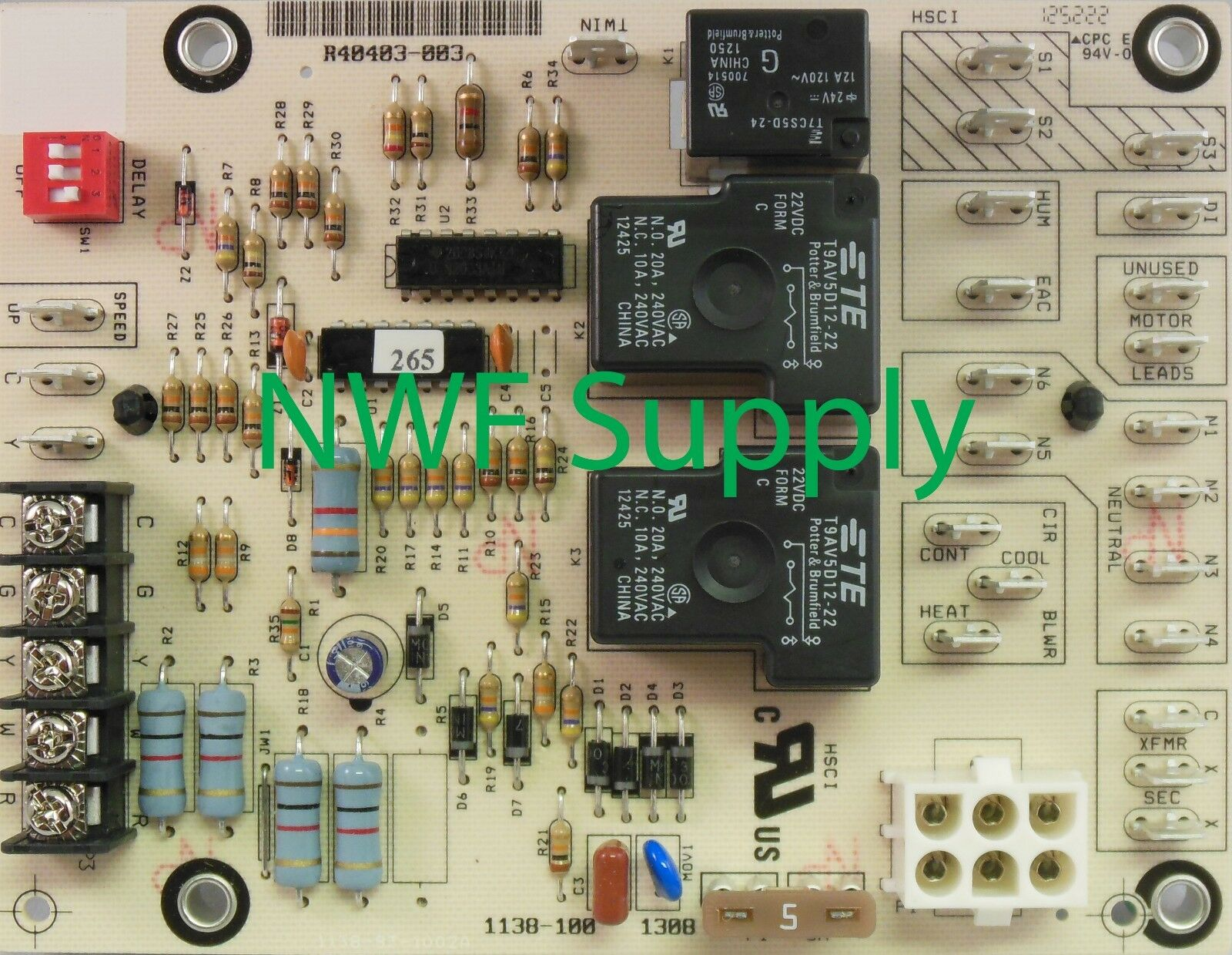 Honeywell Fan Control Furnace Circuit Board St9120c4008 9500 Emerson M055pwcsw 0283 Goodman 0131m00112 Blower Motor Ebay 1 Of 1only 2 Available