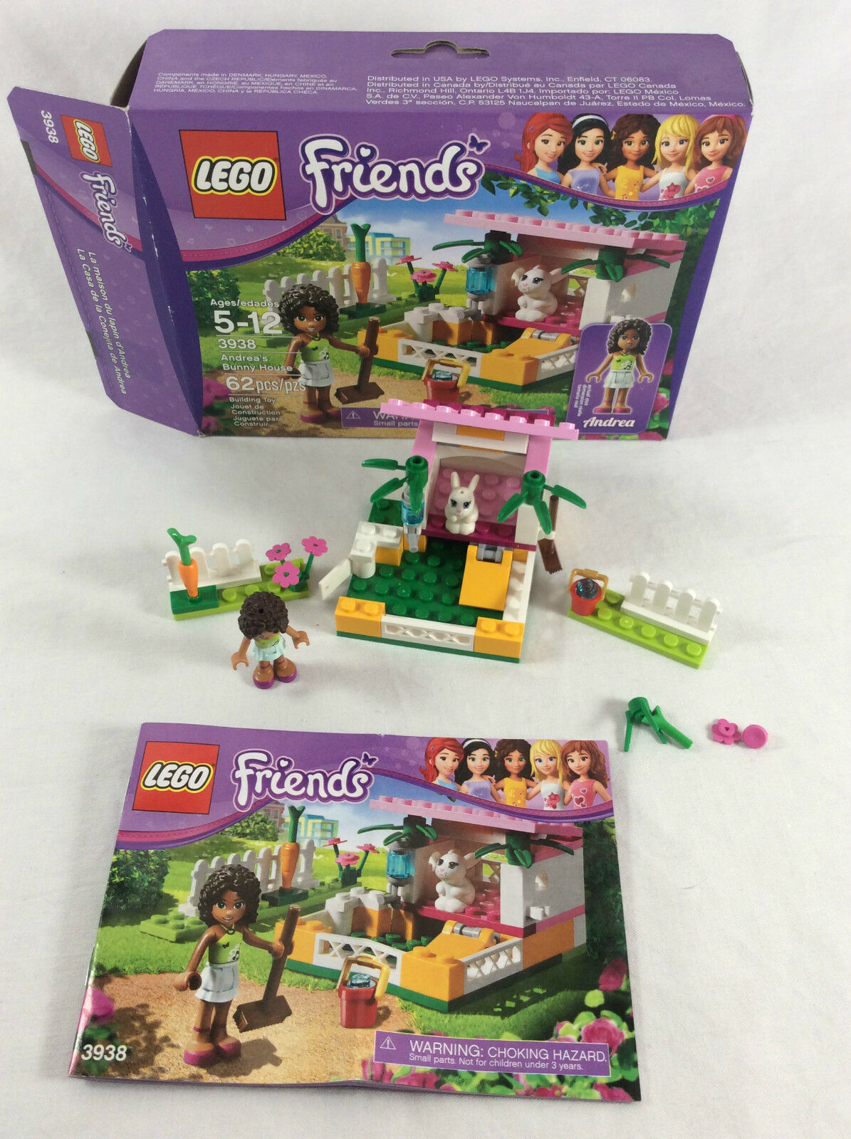 Lego Friends Building Set 3938 Andreas Bunny House Complete W