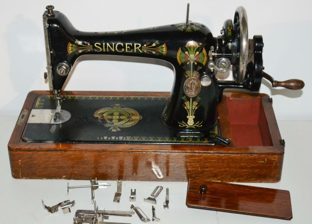 1910s Singer Hand Crank Sewing Machine Model 66K - FREE Delivery [PL1996]