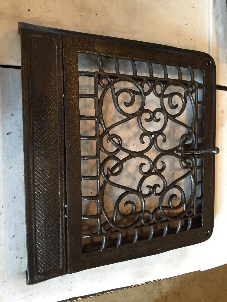 Antique Cast Iron Ornate Wall Mount Heating Grate Tc 110