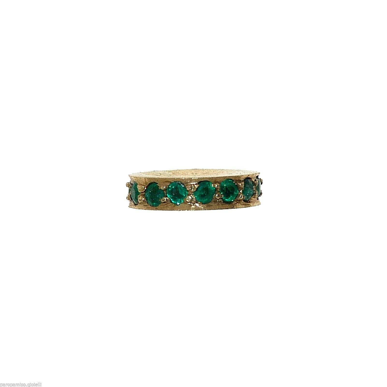 Vintage Indian Element for Jewelry - Gold and Emeralds    -   (1017)