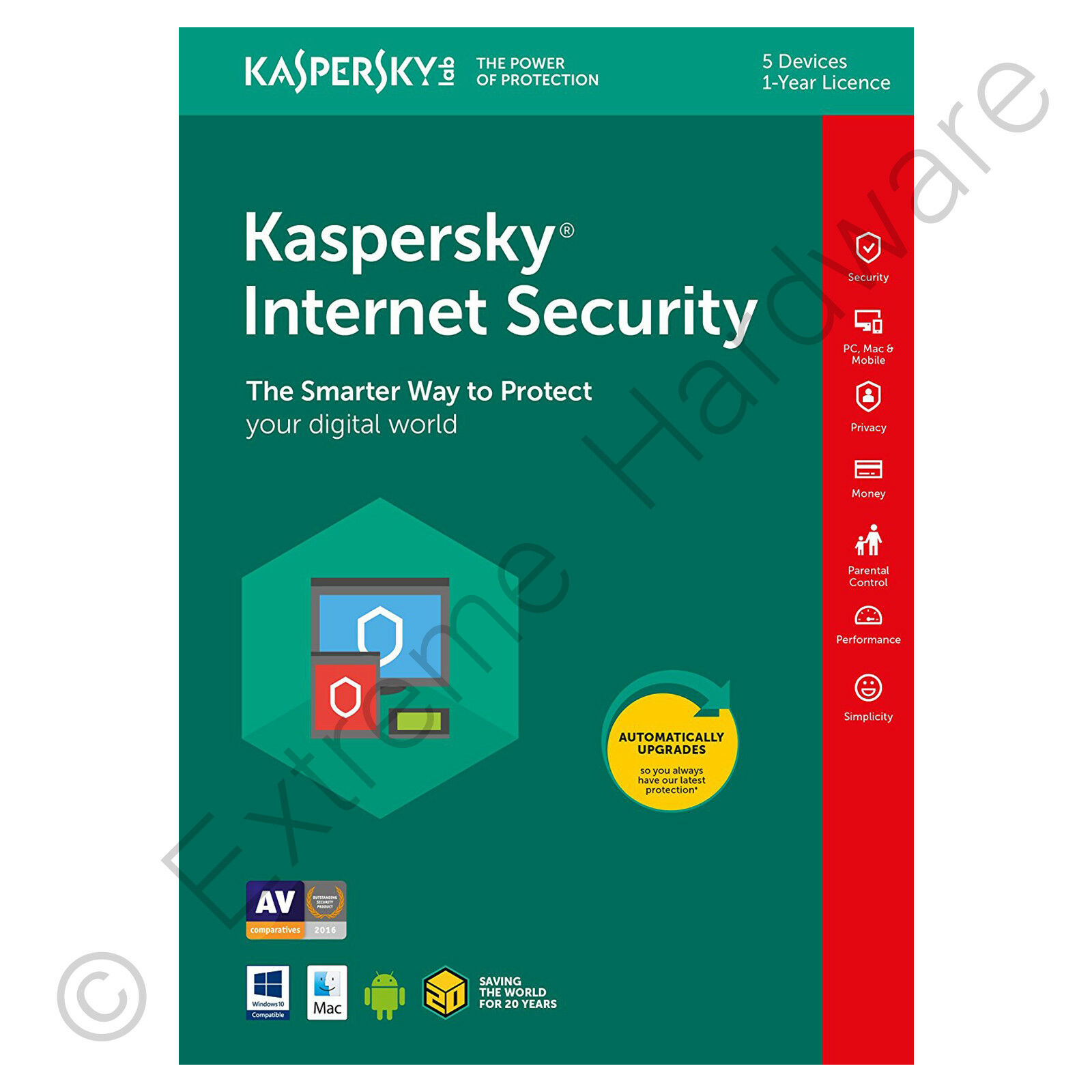 KASPERSKY INTERNET Security Multi Device 2016 5 Users PC
