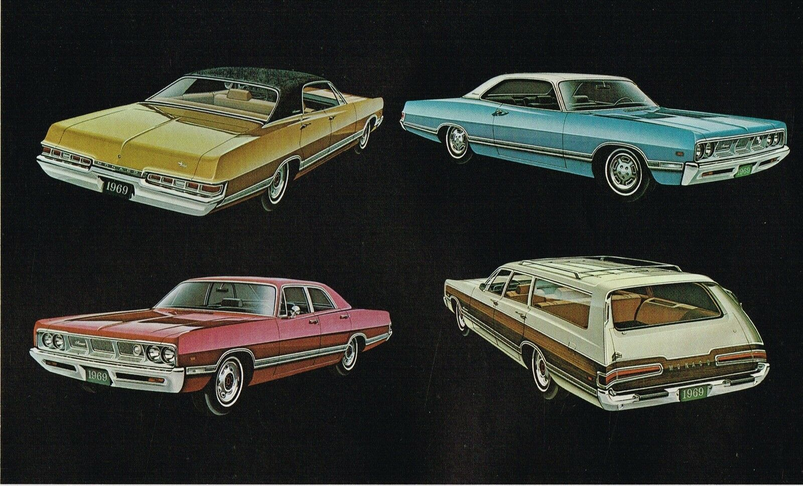 1969 Dodge Monaco Dealer Sales Brochure 500 Brougham Station Charger Color Chart Wagon 440 1 Of 6only Available