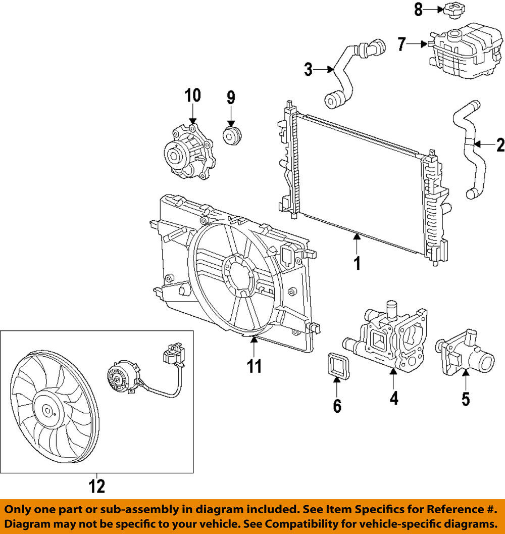 Chevrolet Gm Oem 14 15 Cruze 18l L4 Engine Coolant Thermostat Diagram 1 Of 1free Shipping