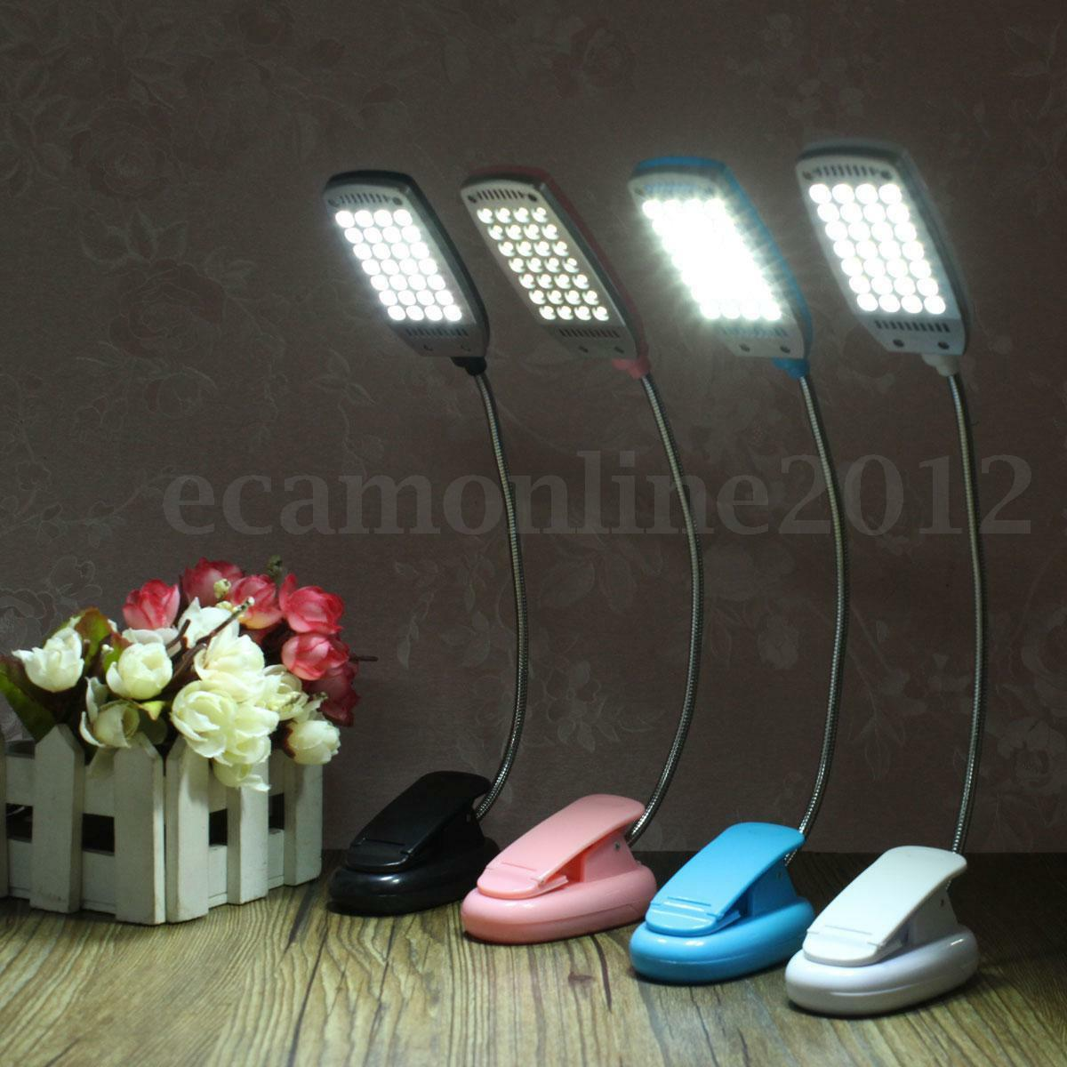 Flexible usb pile 28 led lampe de table bureau lit liseuse for Lampe de bureau a pile