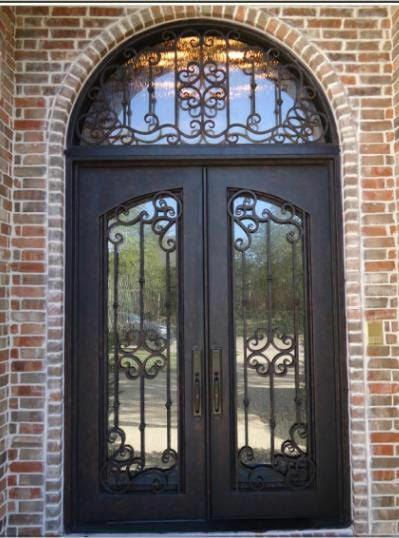 Hand Crafted Wrought Iron Entry Doors 12 Gauge Wrought Iron 72 X
