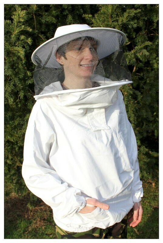 Adult Beekeeping Jacket & Veil, smock, bee keeping, round hat style