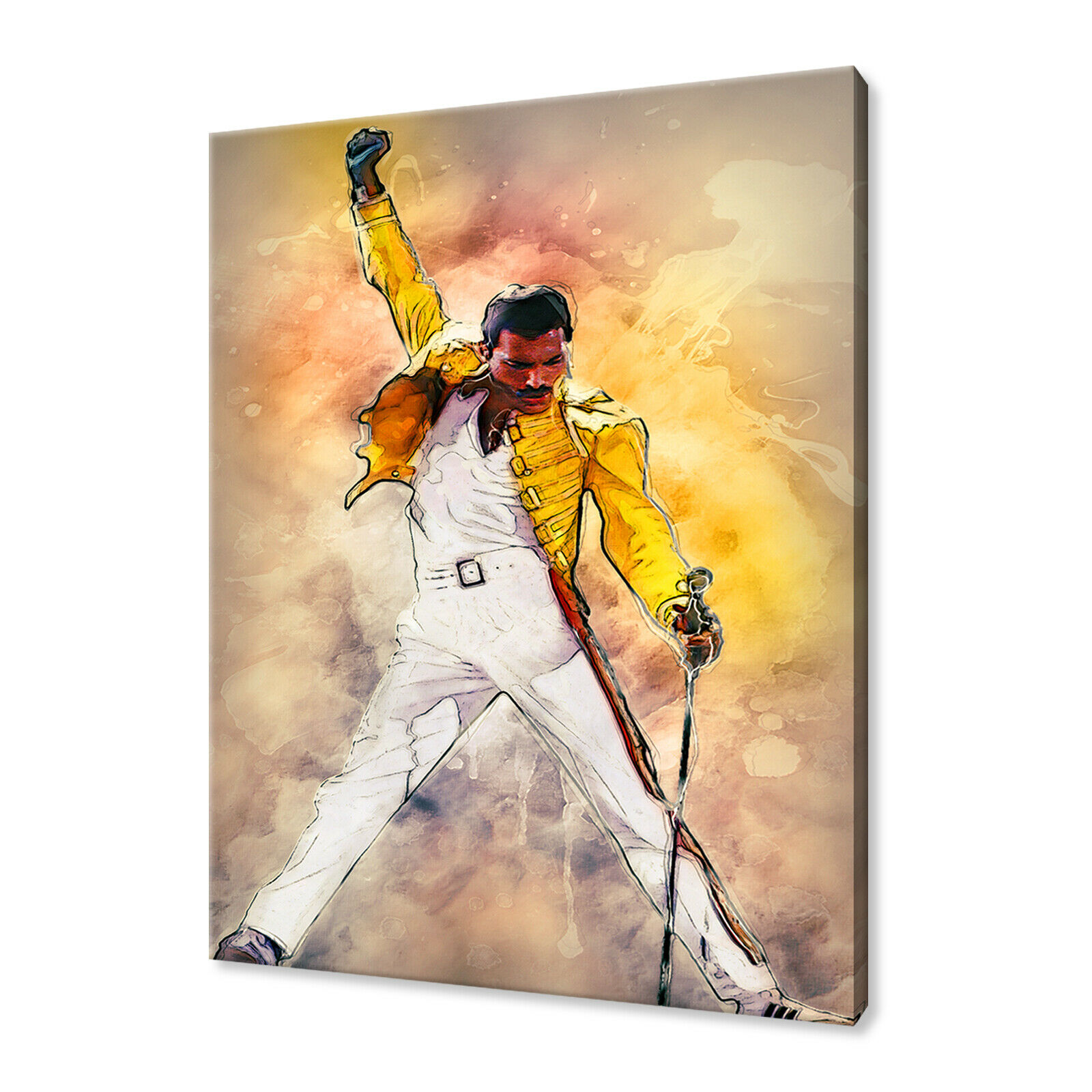 FREDDIE MERCURY CANVAS Wall Art Pictures Print Variety Of Sizes Free ...