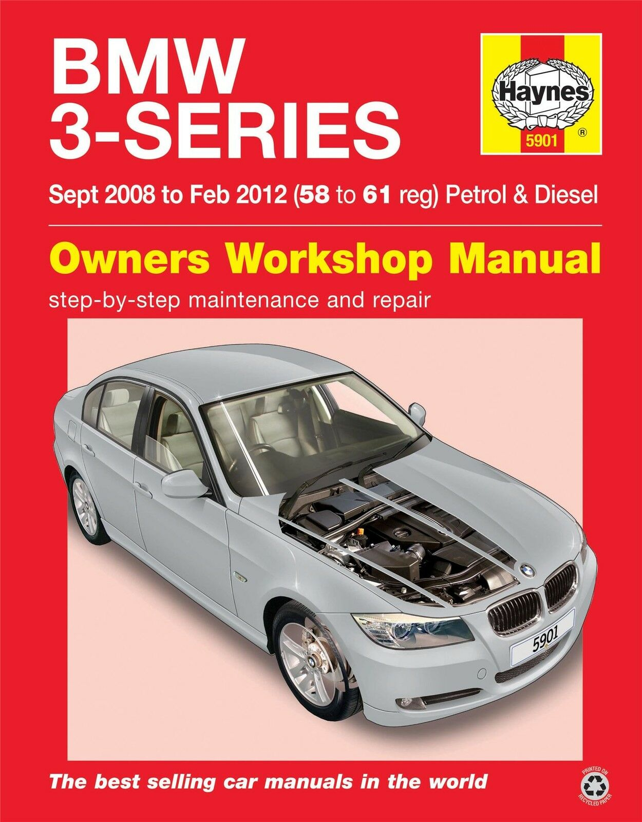 haynes service repair manual 5901 bmw 3 series 58 to 61 picc. Black Bedroom Furniture Sets. Home Design Ideas