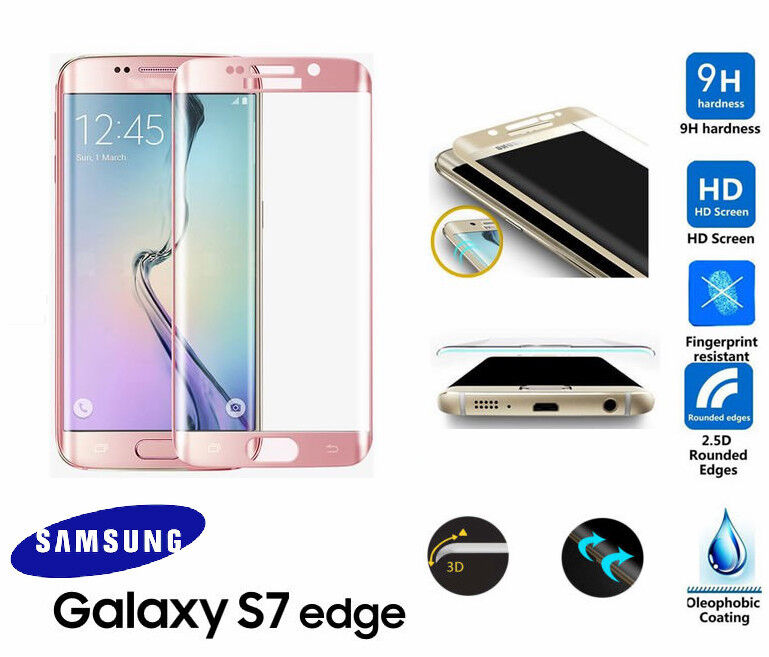 samsung galaxy s7 edge 3d curved rose gold tempered lcd. Black Bedroom Furniture Sets. Home Design Ideas