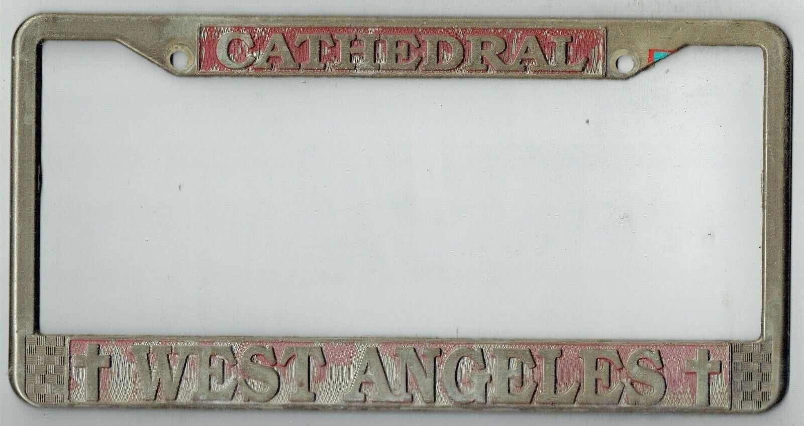 WEST ANGELES CATHEDRAL Church Vintage California License Plate Frame ...