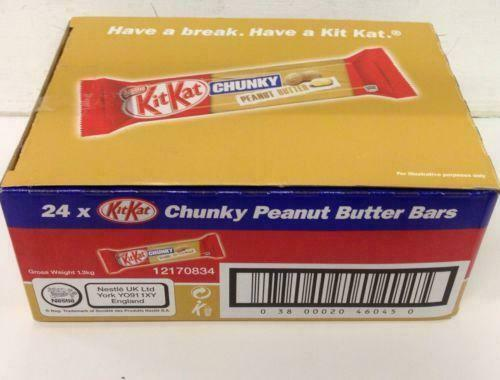KIT KAT CHUNKY PEANUT BUTTER Full Box Of 24