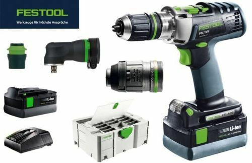 festool akku schlagbohrschrauber pdc 18 4 li 5 2 set xl airstream eur 782 80 picclick at. Black Bedroom Furniture Sets. Home Design Ideas
