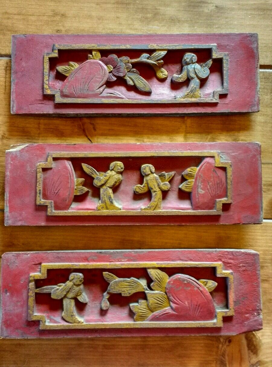 Antique chinese furniture architectural hand carved wood