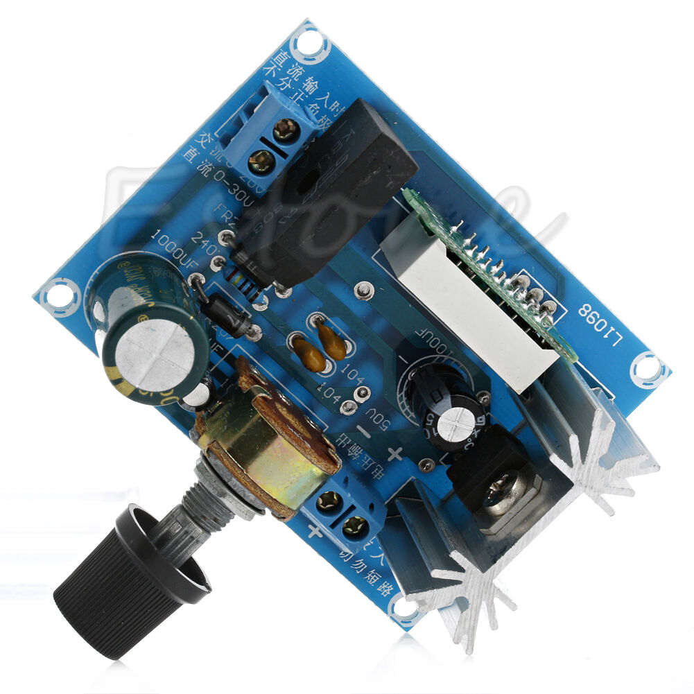 Lm317 Ac Dc Adjustable Voltage Regulator Step Down Power Supply Module With Led 1 Of 7