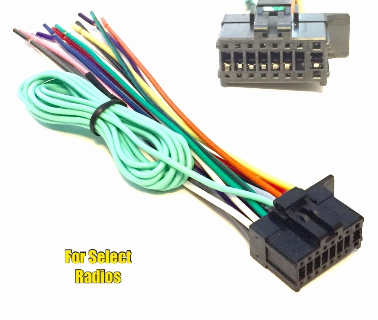 car stereo wire harness plug for some pioneer premier cd dvd cdp1696 rh picclick com Car Audio Wiring Harness Connectors JVC Car Stereo Wiring Harness