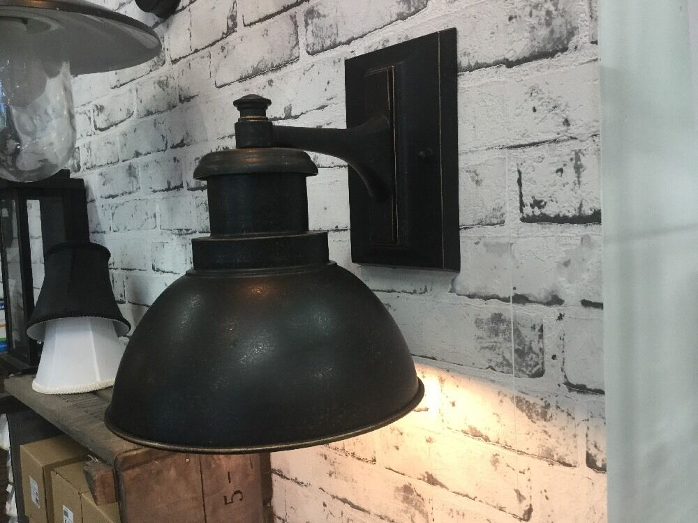 Black Rustic Wall Lights : Black Exterior Wall Light Industrial Rustic Retro Port Ship Country Vintage Wb30 AUD 100.00 ...