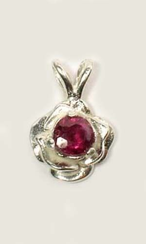 Antique 19thC 1/3ct Rhodolite Garnet Christ Blood Amulet Noah's Ark Illumination
