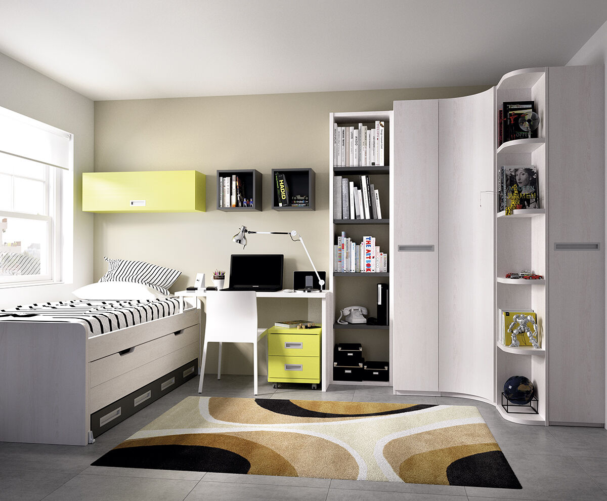 xxl kinderzimmer jugendzimmer eckschrank stauraumbett. Black Bedroom Furniture Sets. Home Design Ideas