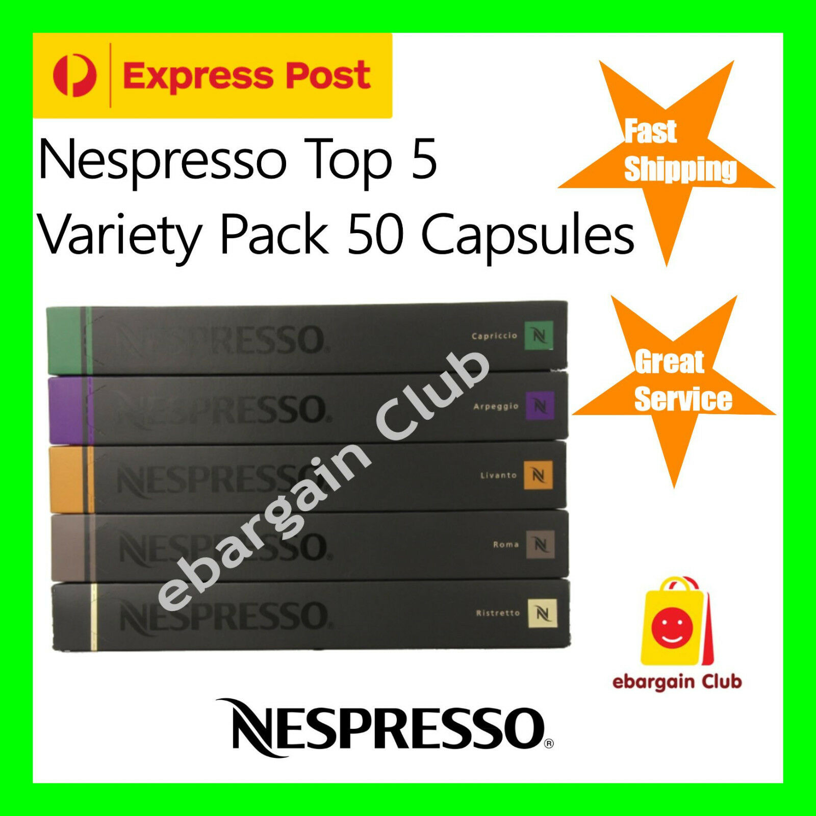 50 Capsules Nespresso Coffee Variety Pack Mixed Pods eBargainClub Top 5 Popular