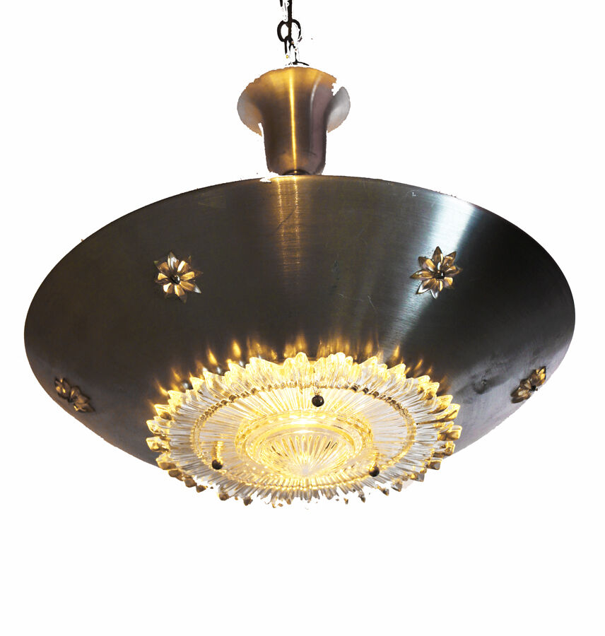 Hollywood Regency Glam Hanging Light Chandelier Modern Space Age Rare