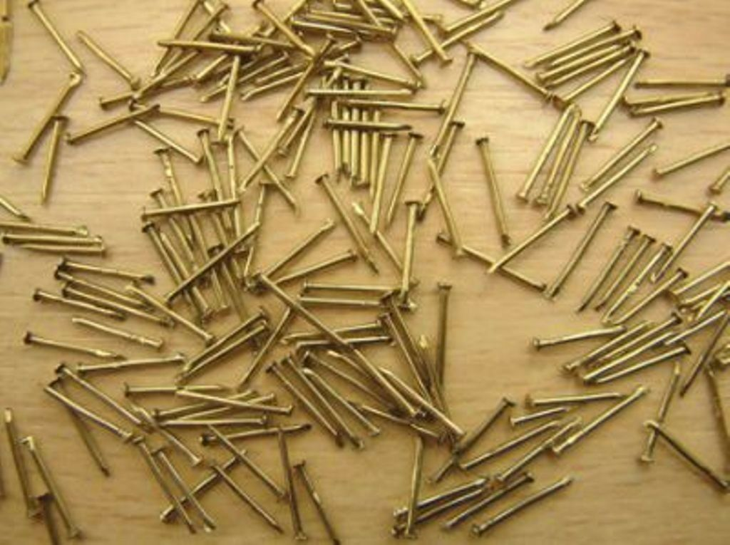2K - 14mm Brass Modelling Pins ( Approx 100g Bag)  New -1st Class Post