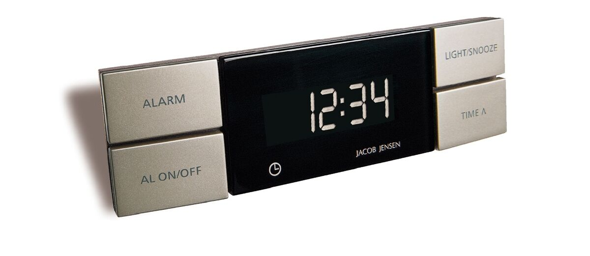 jacob jensen design quartz wecker alarm clock digital snooze ger uschlos neu eur 39 00. Black Bedroom Furniture Sets. Home Design Ideas