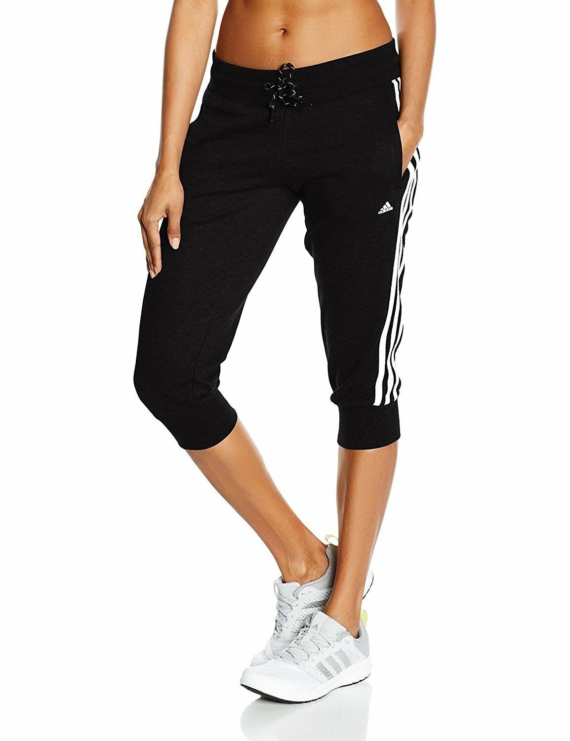 adidas damen 3 4 trainingshose 3 streifen schwarz gr xs xl eur 19 99 picclick de. Black Bedroom Furniture Sets. Home Design Ideas