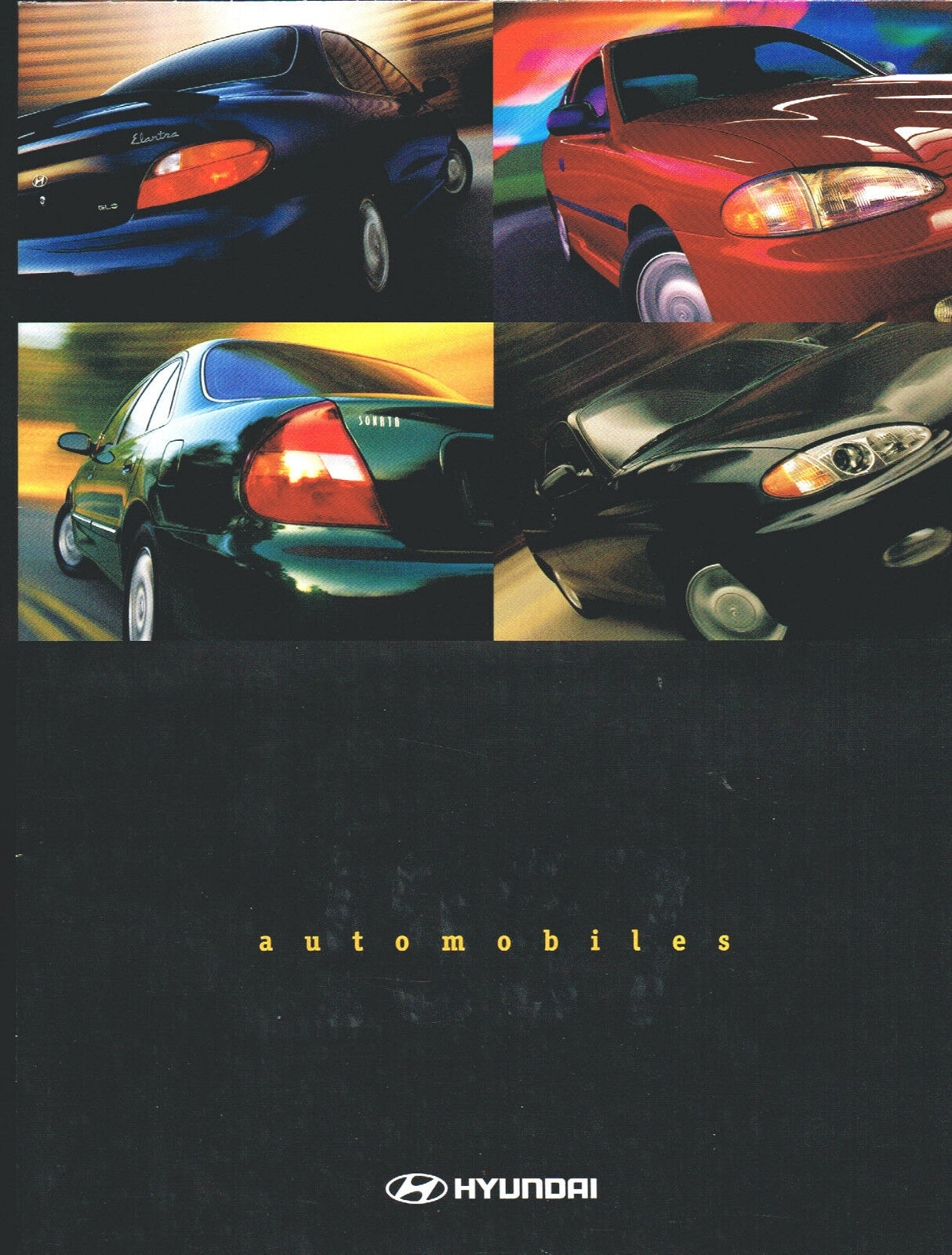 1997 HYUNDAI ACCENT / SONATA / ELANTRA Brochure / Pamphlet with TIBURON  Poster 1 of 3Only 1 available ...