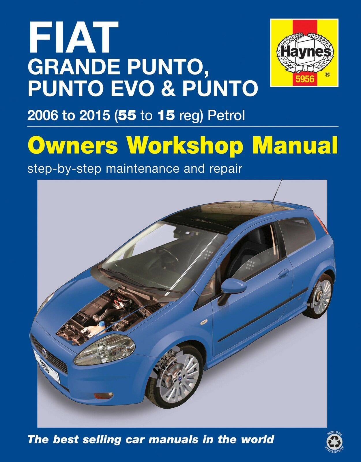 Fiat Grande Punto Evo Repair Manual Haynes Manual Service Manual 2006-2015  1 of 1 See More