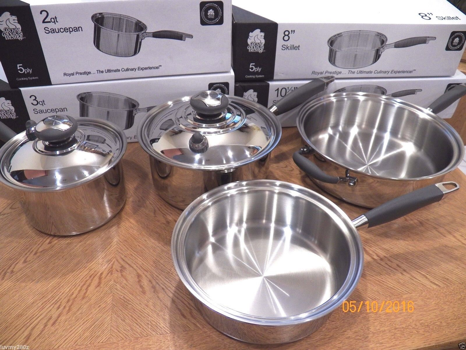 NEW ROYAL PRESTIGE 5 PLY T304S Surgical Stainless Waterless ...