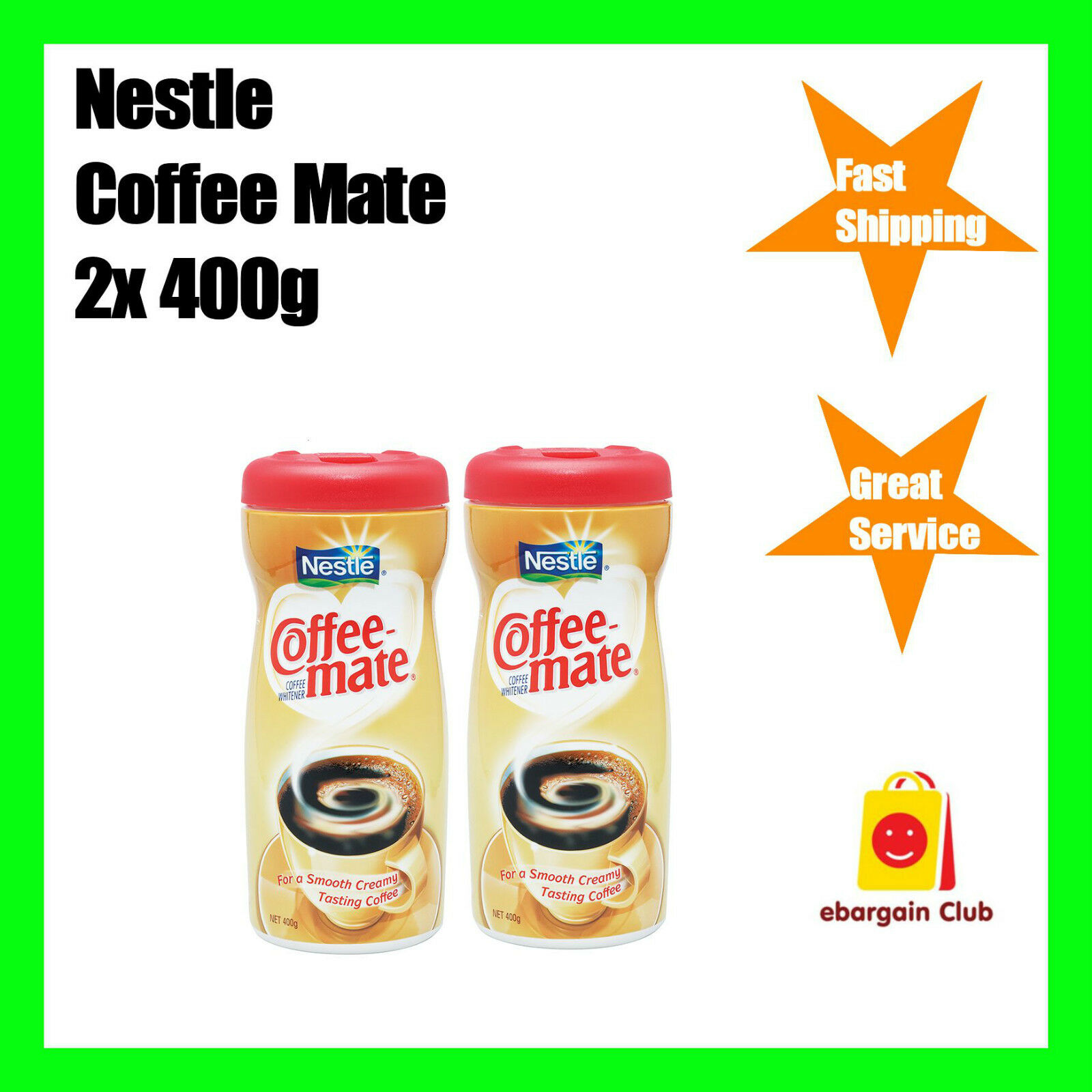 Nestle Coffee Mate Instant Coffee 2x400g