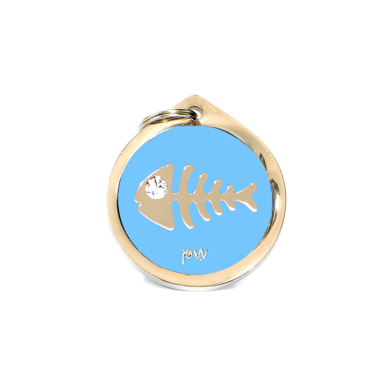 Pet Cat Identity Tag Quality FISH Design ID Tag, FREE DELIVERY, Engraving Option