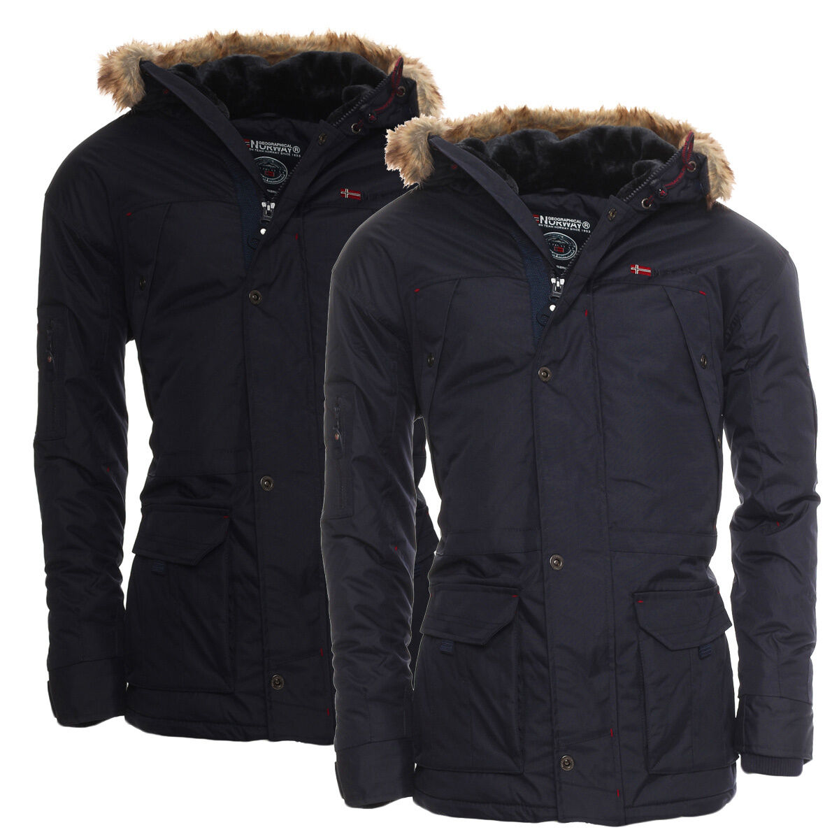 geographical norway warme gef tterte herren alaska winterjacke jacke parka wow eur 89 90. Black Bedroom Furniture Sets. Home Design Ideas