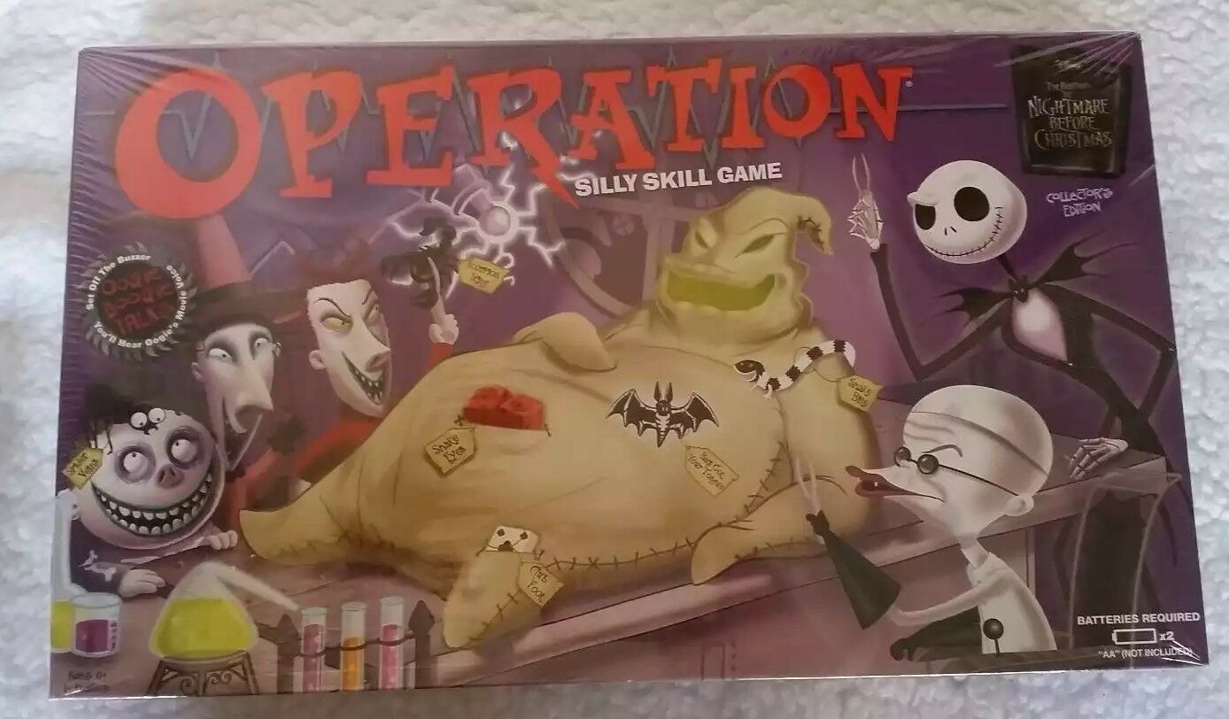NIGHTMARE BEFORE CHRISTMAS Operation New Tim Burton Game Collector\'s ...