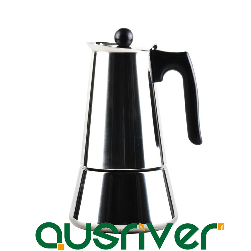 6 Cup Stainless Steel Stove Top Espresso Coffee Maker