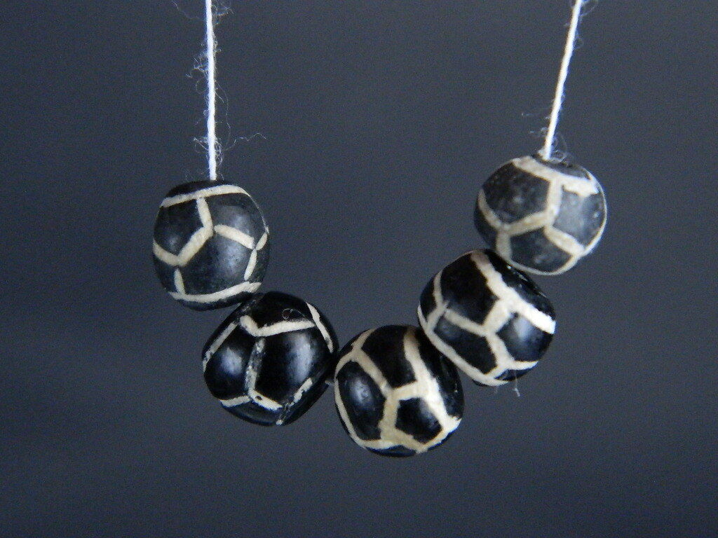 Etch Decorated 5 Beads   #BD15007