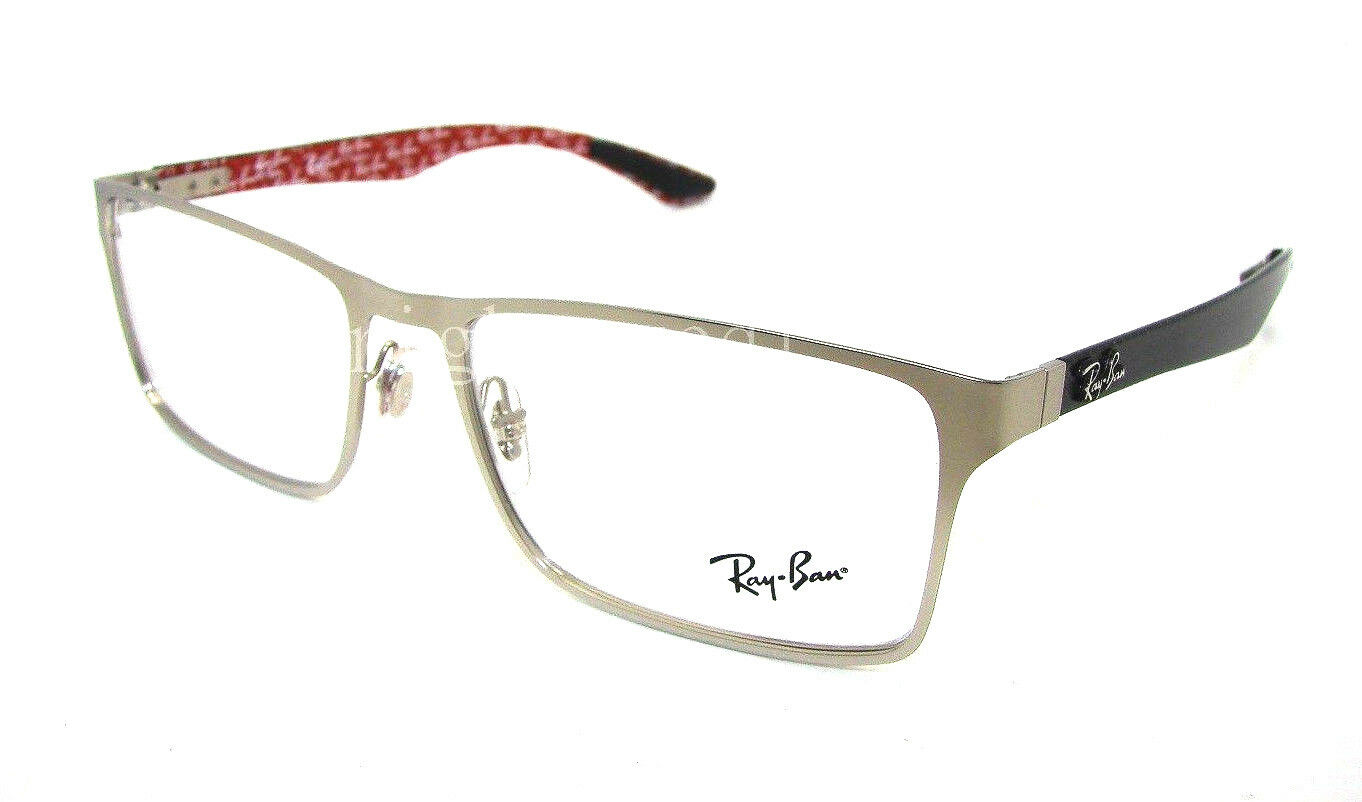 Ray Ban Silver Frame Glasses : Authentic RAY-BAN Silver Rectangular Eyeglasses Frame RX ...