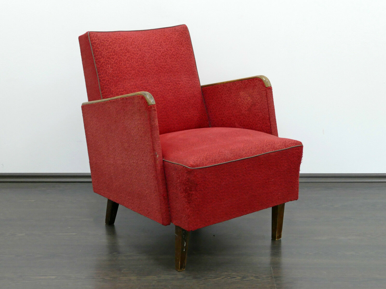 1 of 2 Vintage Retro MidCentury Art-Deco Style Armchair BESPOKE OPTION