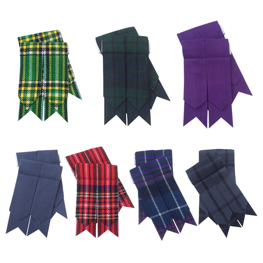 Scottish Kilt Sock Flashes various Tartan/Kilt Hose Flashes pointed/kilt flashes