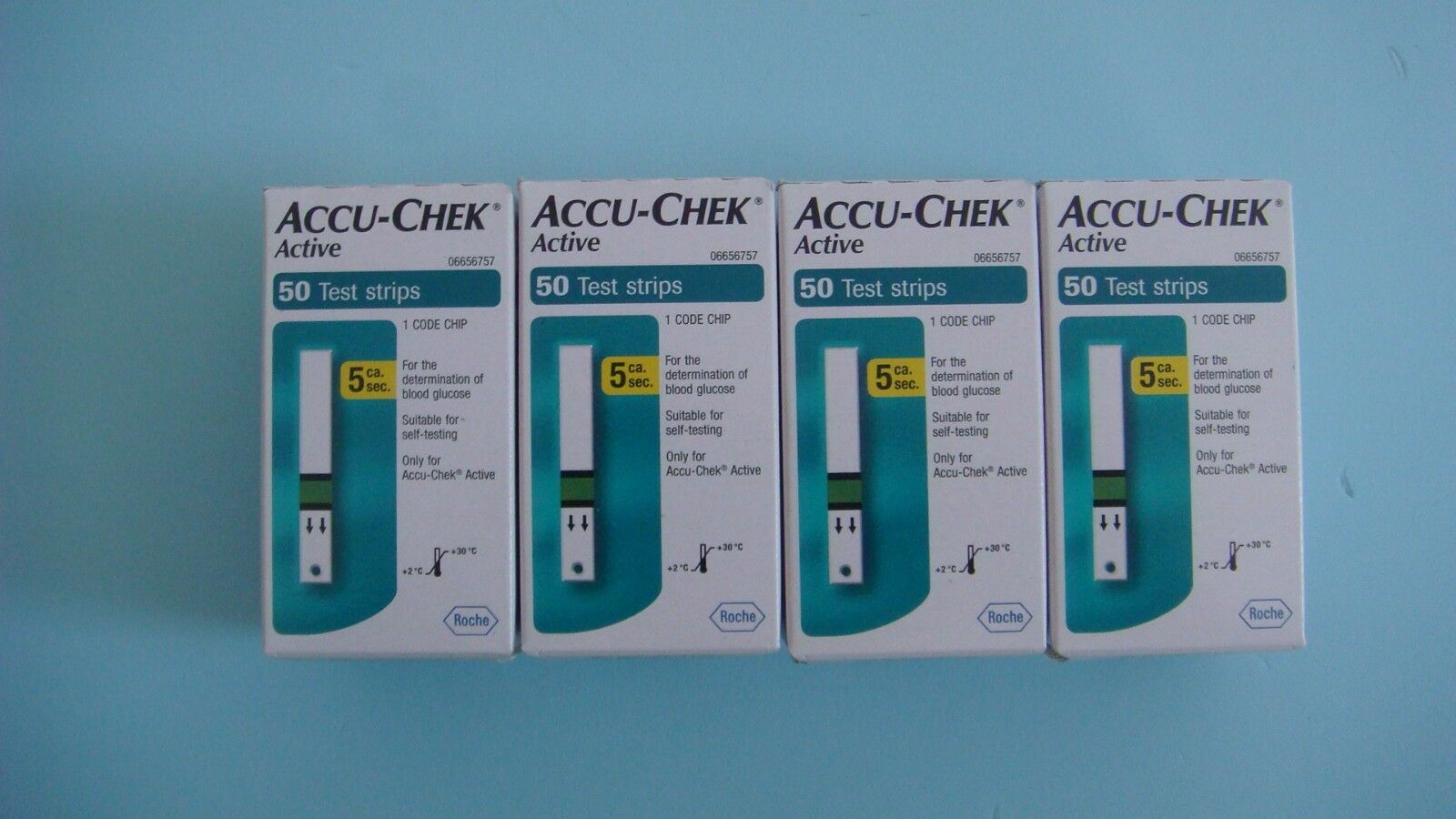New Product Accu Chek Active 50 Test Strips X 4ea Expiry Date 08 Strip Check Roche 1 Of 1only 5 Available
