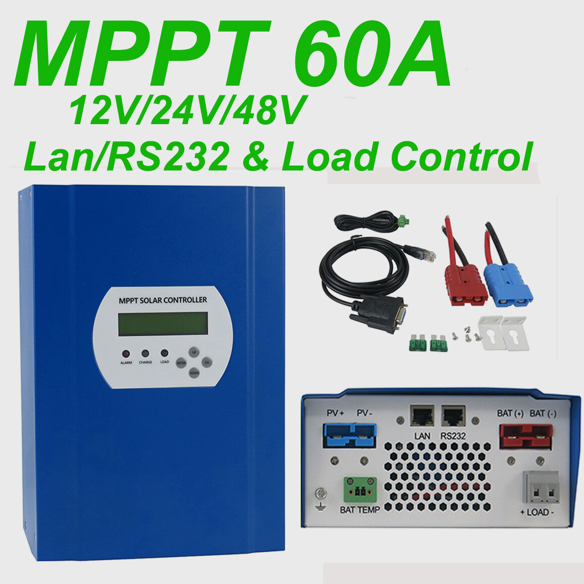 Lcd Mppt Solar Charge Controller 12v 24v 48v With Dc Load Lan Rs232 Thunderbolt Magnum Battery Charger Wiring Diagram 1 Of See More
