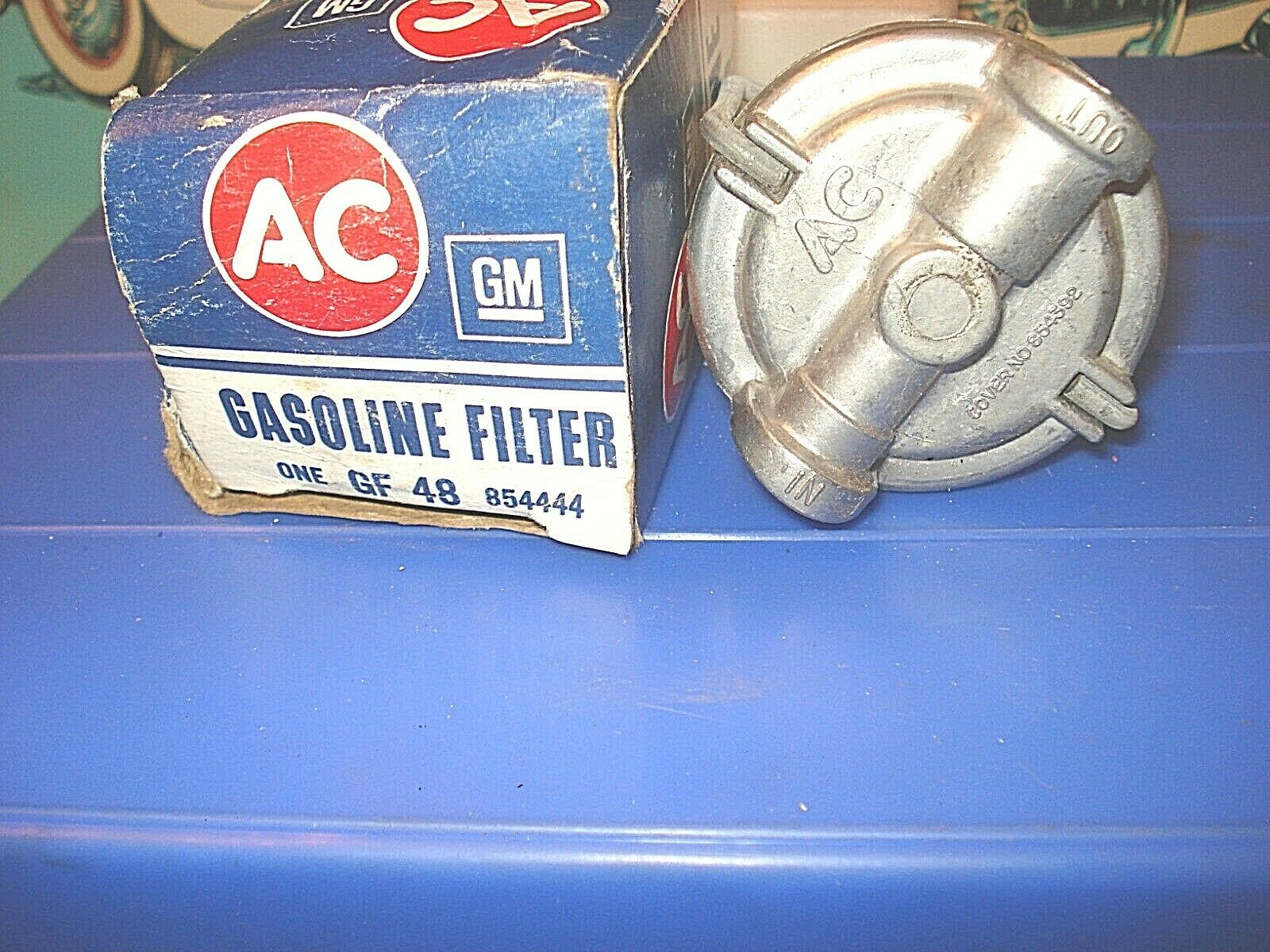 Stone Fuel Filter For 1949 Chevy Wiring Diagrams Data Base Corvette Location Assembly Gf 48 Nos Gm 58 65 Rh Picclick Com